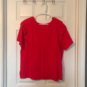 Perfect condition Levi's ruffle sleeve tee
